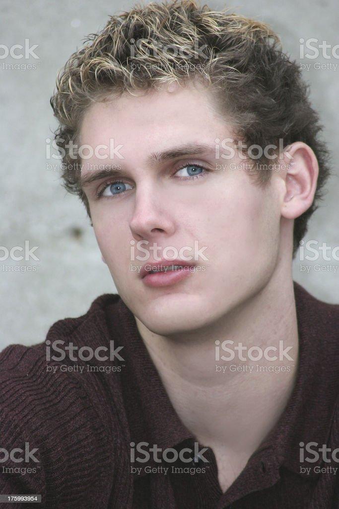 blue eyed boy royalty-free stock photo