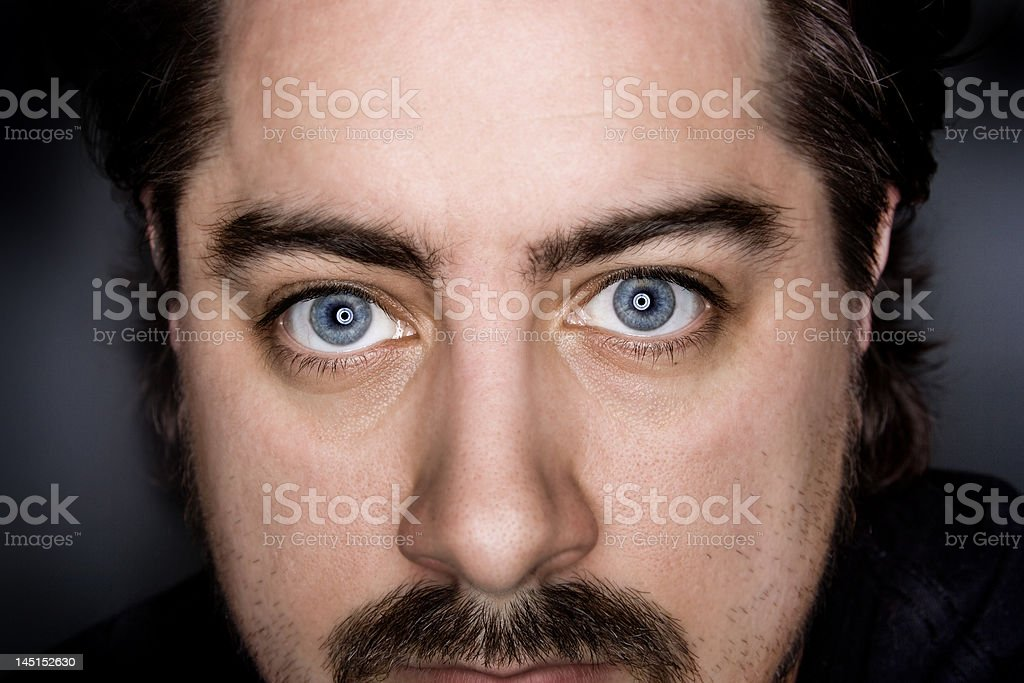 Blue Eyed Man stock photo