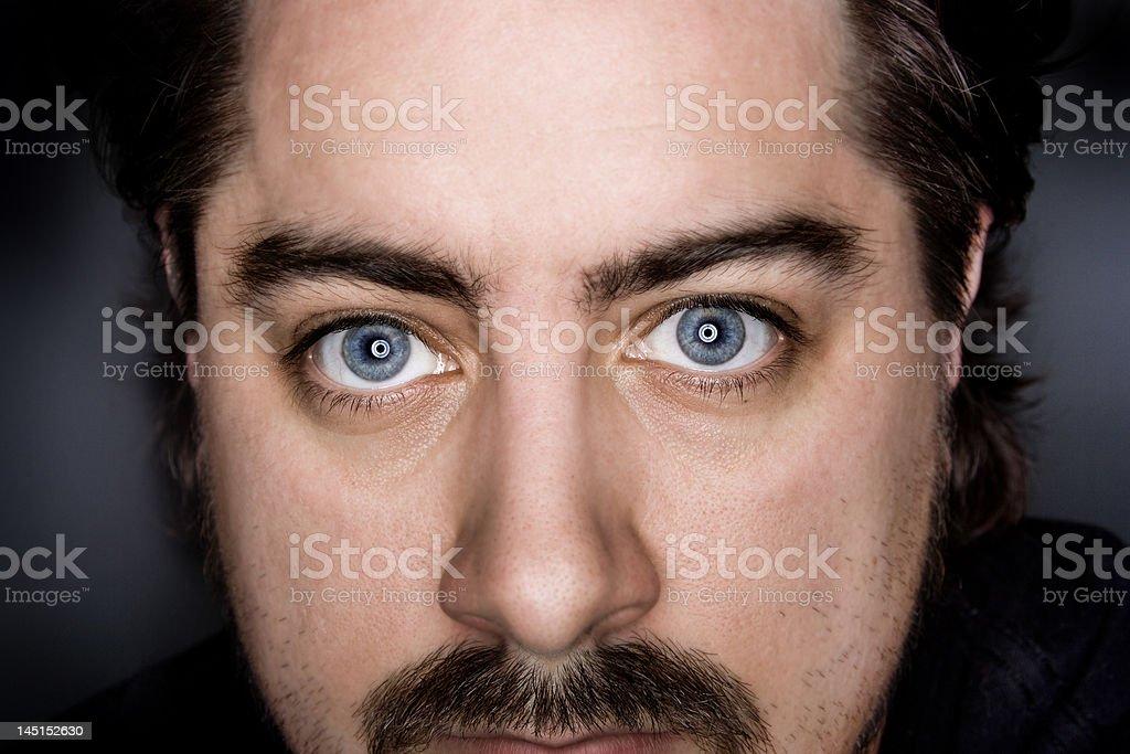 Blue Eyed Man stock photo