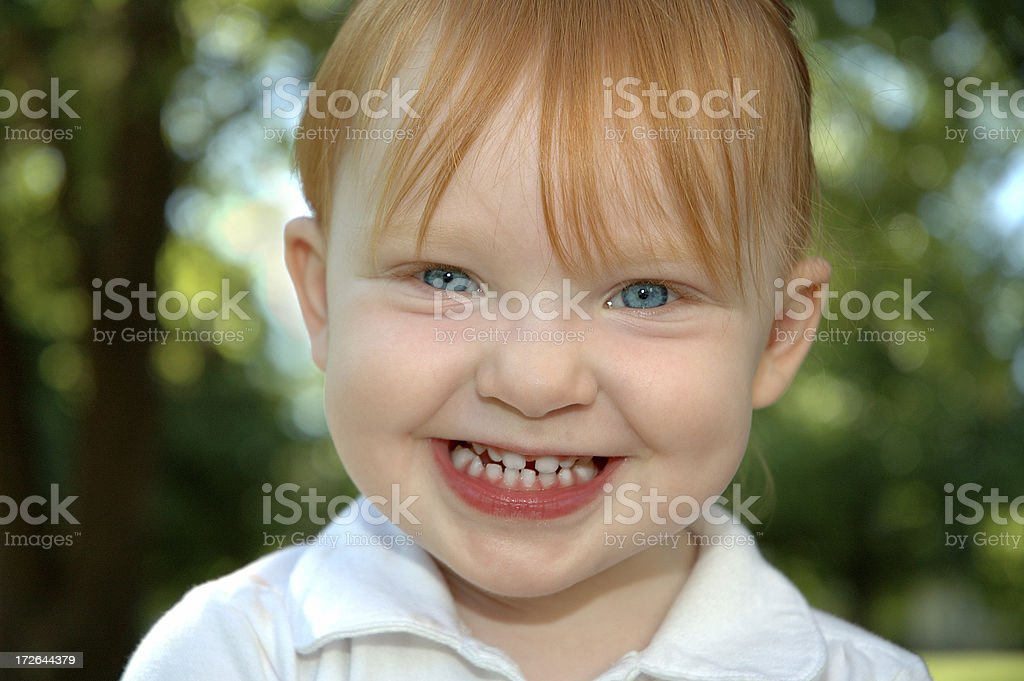 Blue Eyed Redhead stock photo