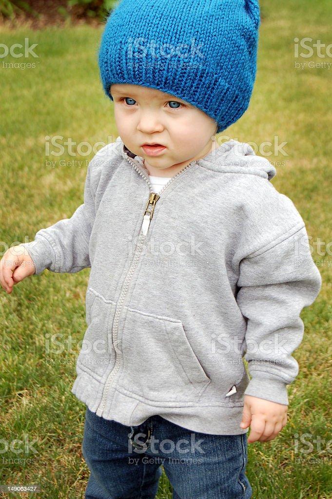 Blue Eyed Toddler royalty-free stock photo
