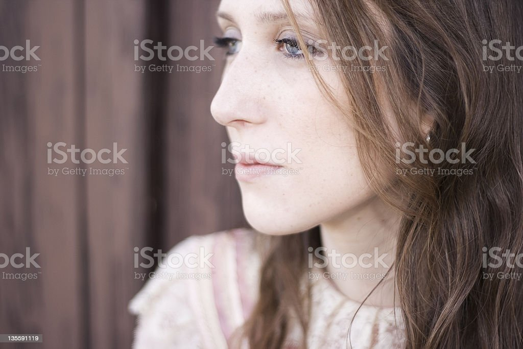 blue eyed woman royalty-free stock photo