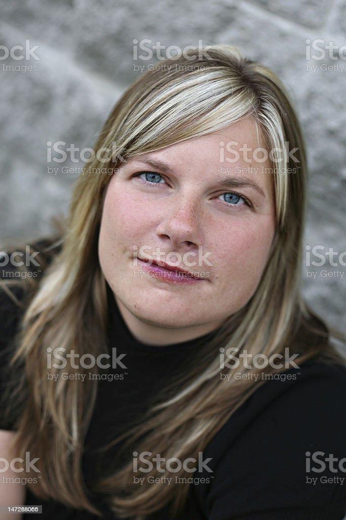 Blue eyed woman royalty-free stock photo