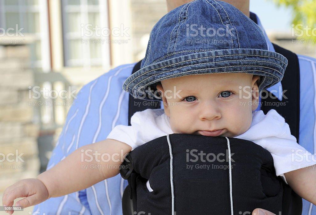 Blue Eyes, Baby stock photo
