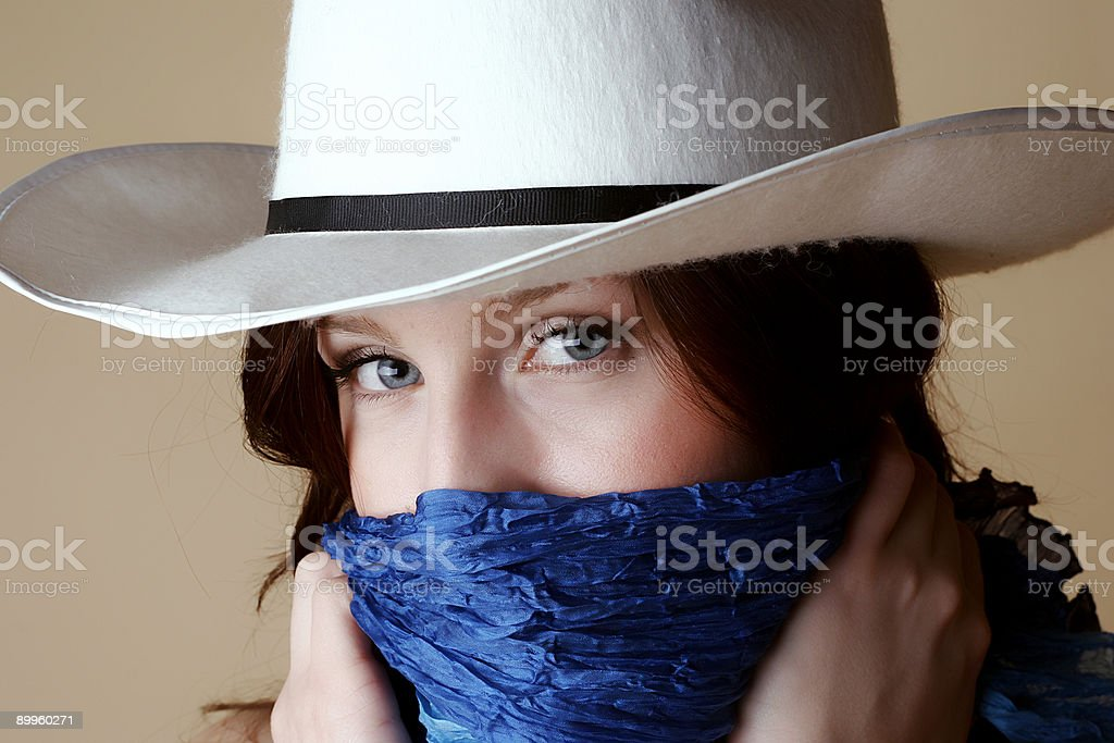 Blue Eyes Cowgirl royalty-free stock photo
