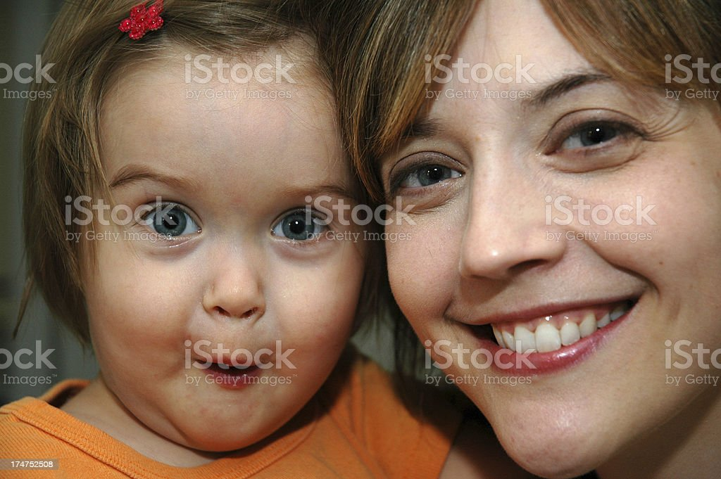 Blue Eyes Just Like Mom royalty-free stock photo
