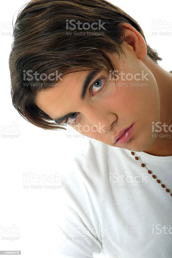 Blue eyes model royalty-free stock photo