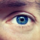 Blue eyes of a man