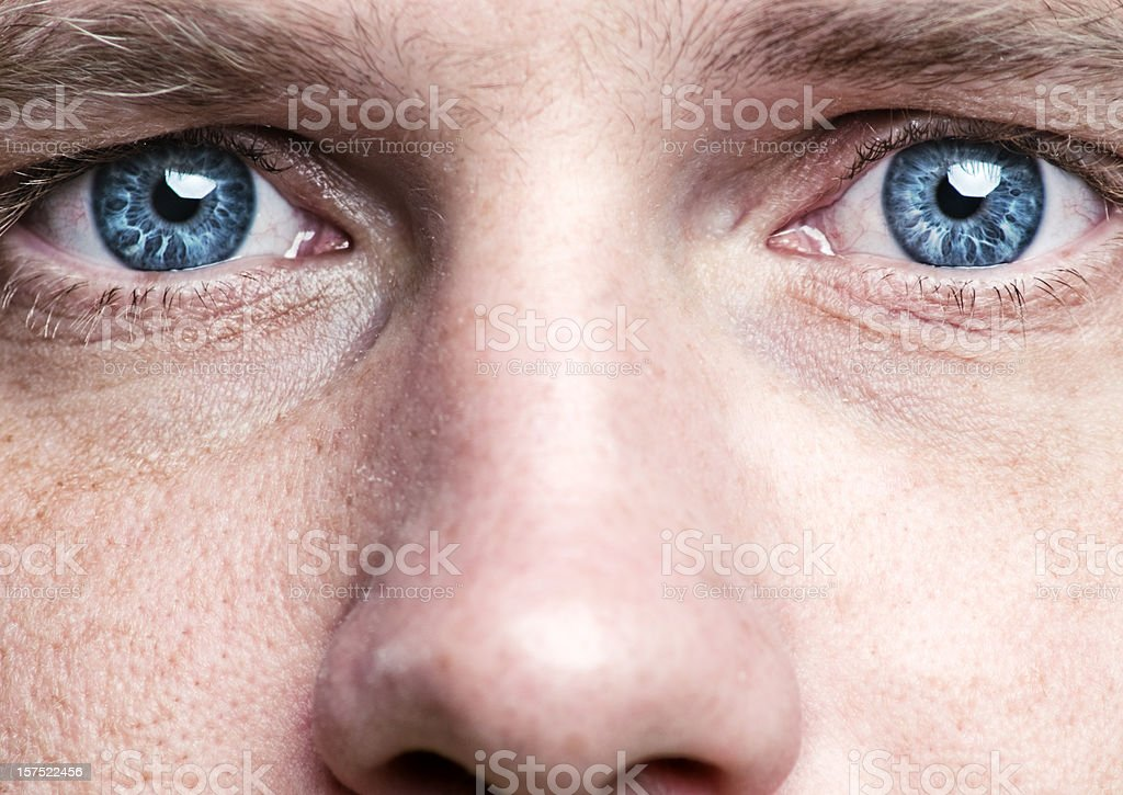 blue eyes stock photo