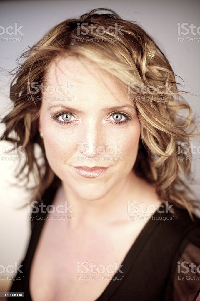 blue eyes women portrait royalty-free stock photo