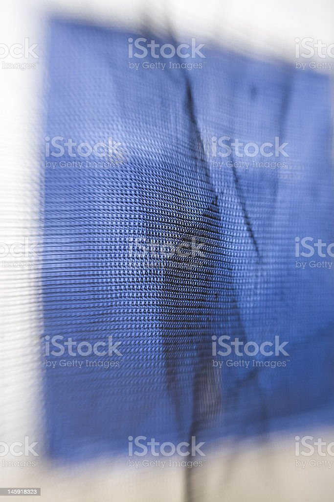 Blue Fabric Netting royalty-free stock photo
