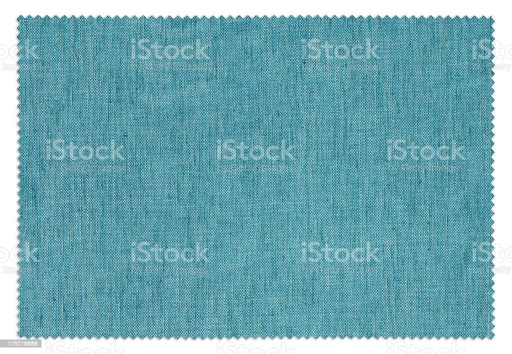 Blue Fabric Swatch (Clipping Path) stock photo