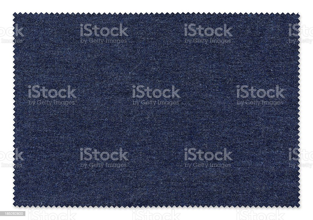 Blue Fabric Swatch royalty-free stock photo
