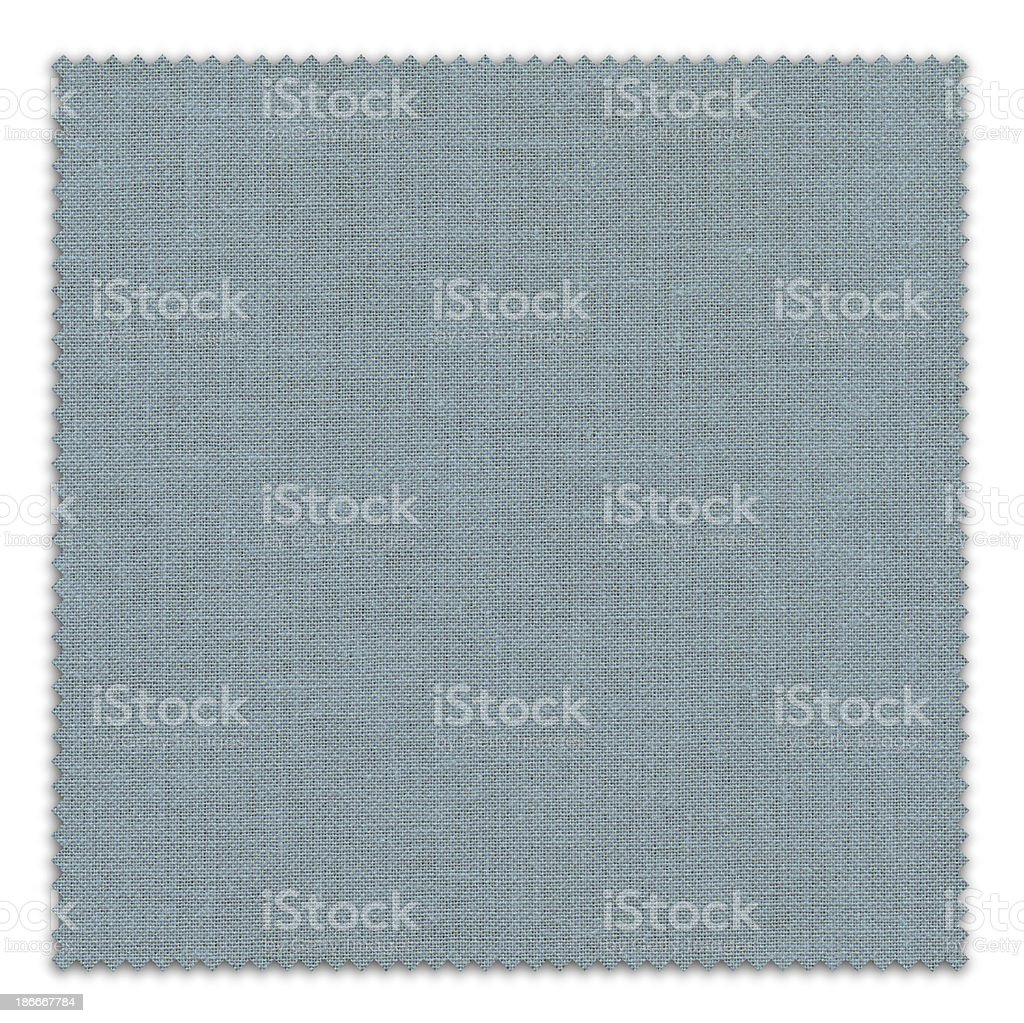 Blue Fabric Swatch (Clipping Path) royalty-free stock photo