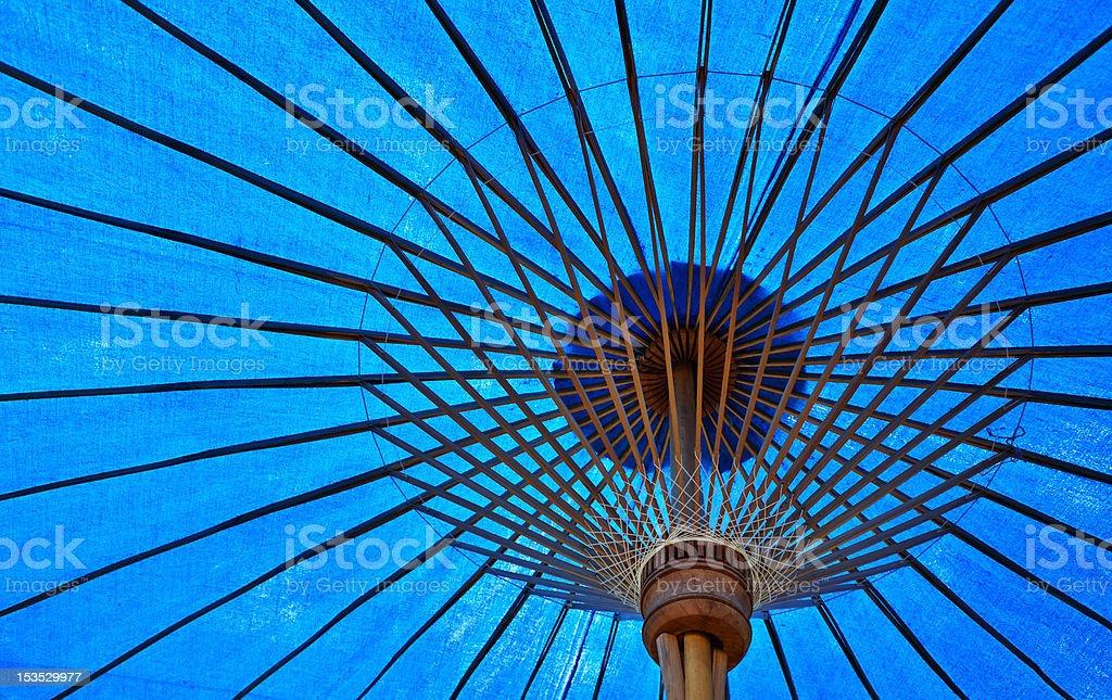 Blue Fabric Umbrella royalty-free stock photo