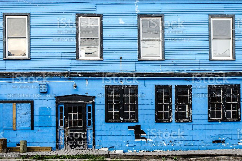 Blue facade stock photo