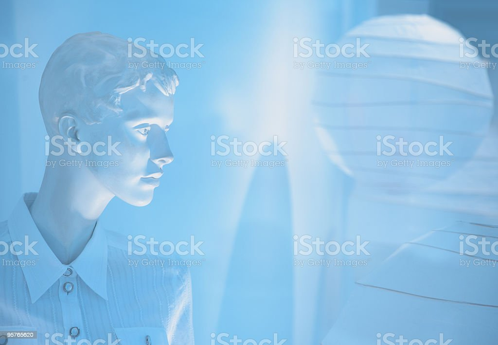 Blue Fashion Mannequin royalty-free stock photo