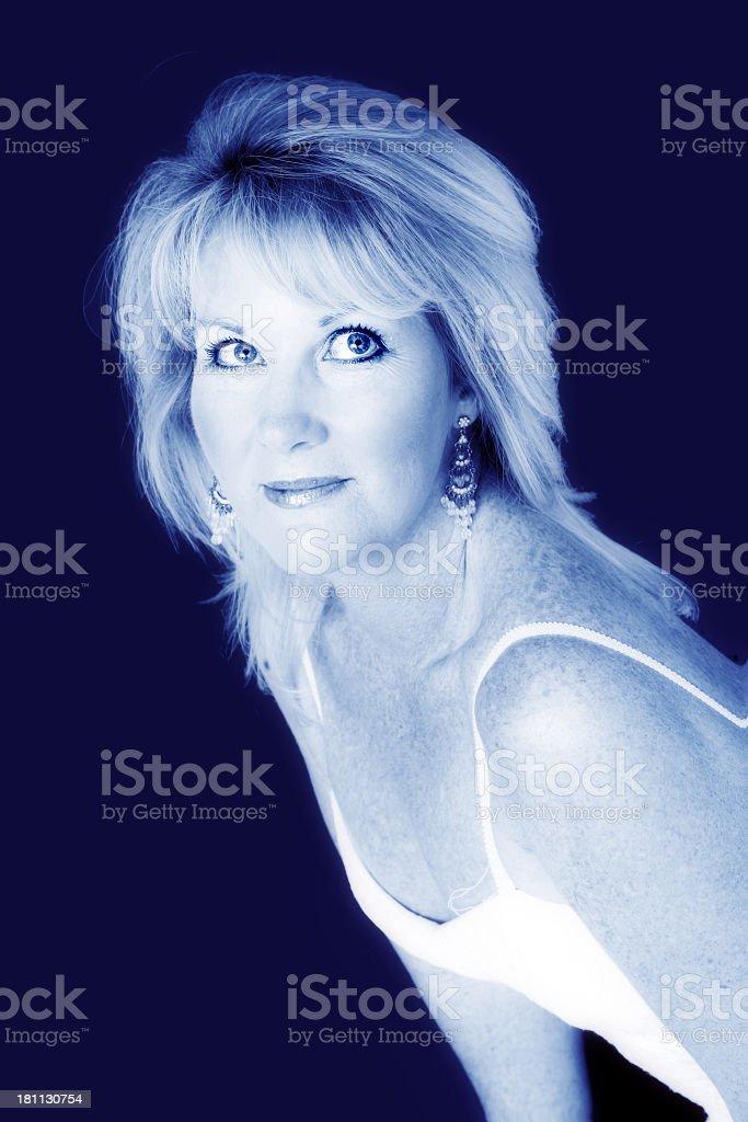 Blue Feminity stock photo