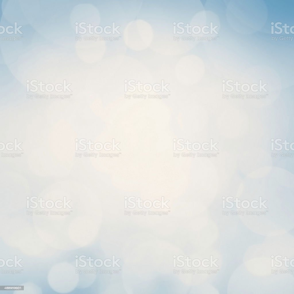 Blue Festive Christmas background. Abstract twinkled bright stock photo