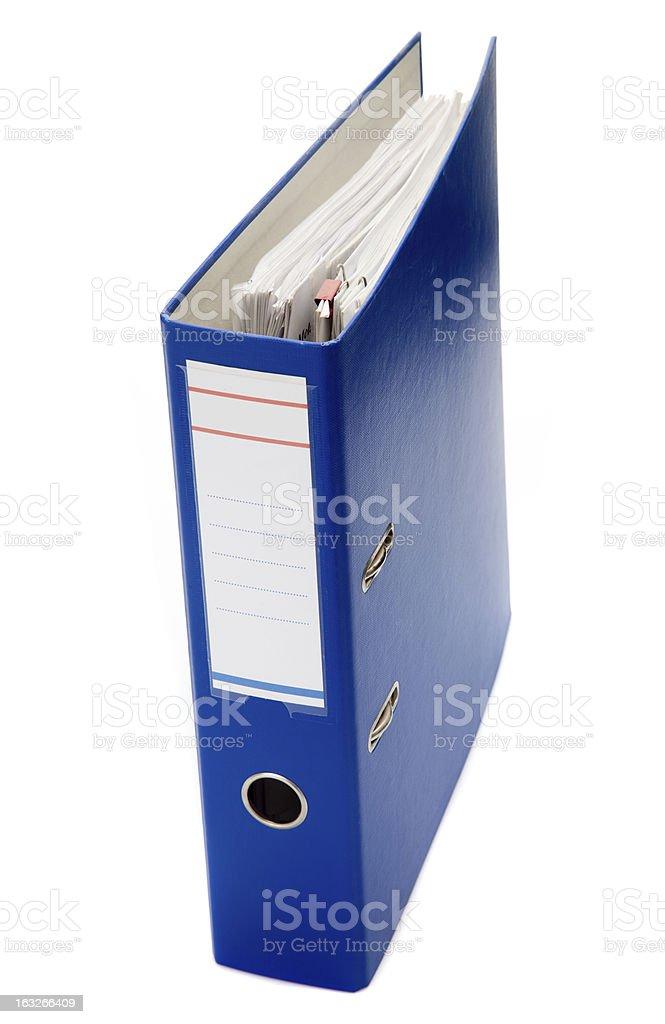 Blue file stock photo