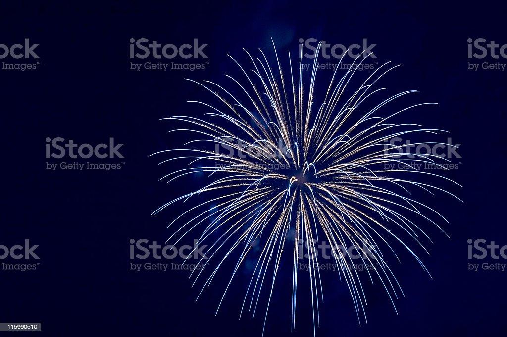 Blue firework explosion royalty-free stock photo