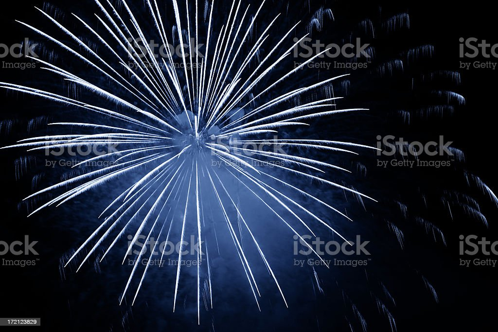 XXL blue fireworks explosion royalty-free stock photo