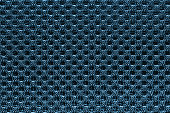 Blue fishnet cloth material as a texture background.