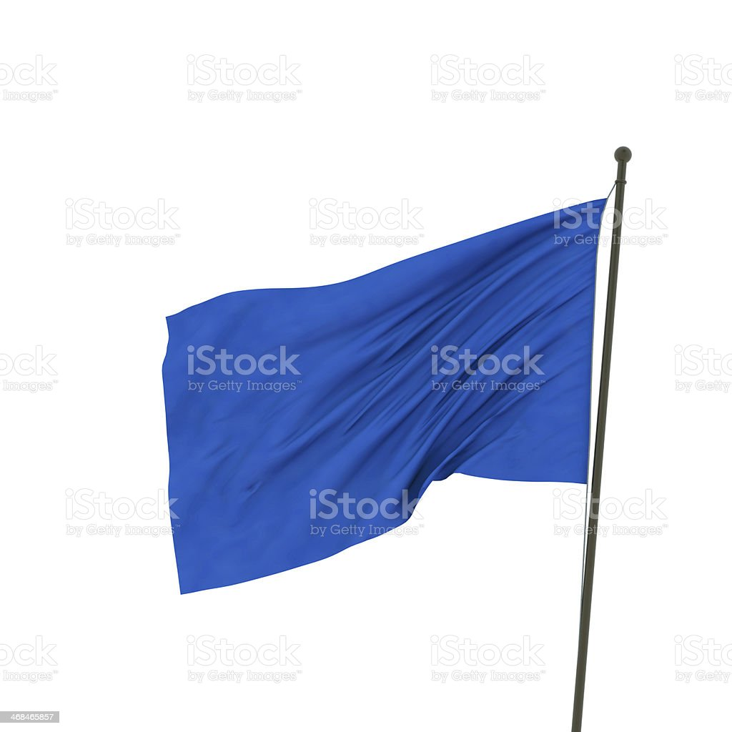XXL blue flag stock photo