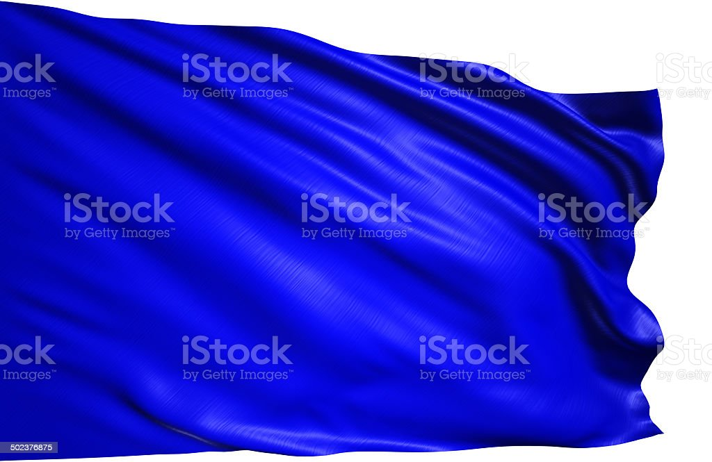 blue flag stock photo
