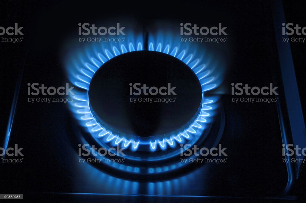 Blue flames 2 royalty-free stock photo