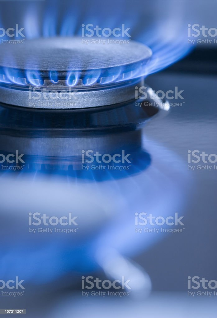 Blue Flames from a burner series 2 royalty-free stock photo