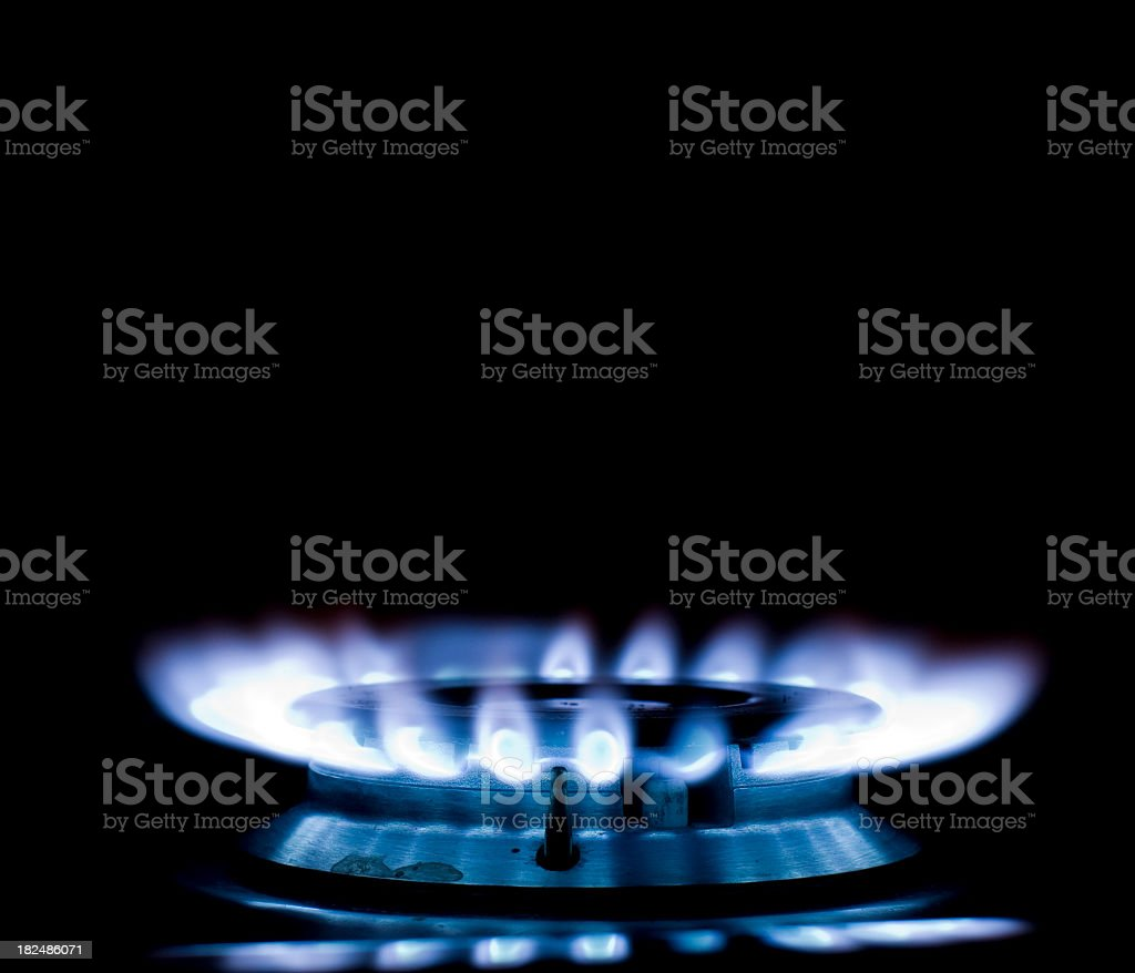 Blue Flames stock photo