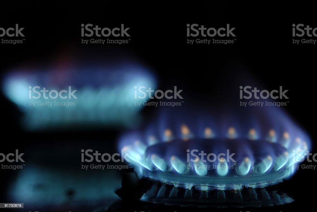 Blue flames royalty-free stock photo