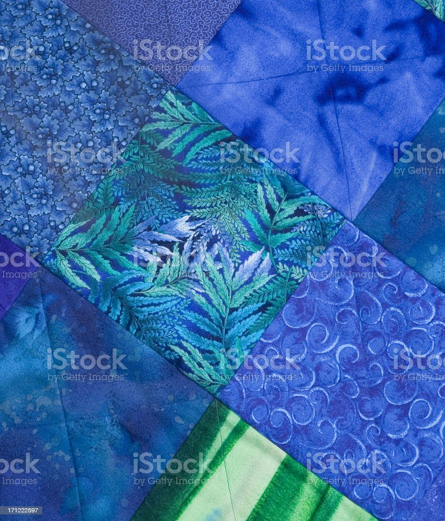 blue flannel quilt royalty-free stock photo