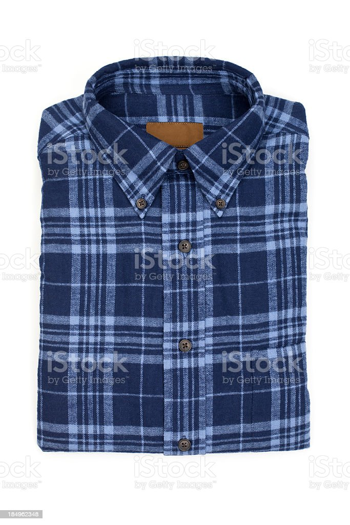 Blue Flannel Shirt royalty-free stock photo