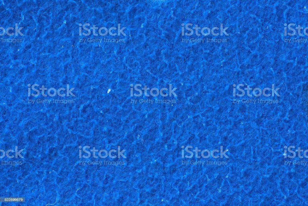 Blue flannelette fabric texture closeup stock photo