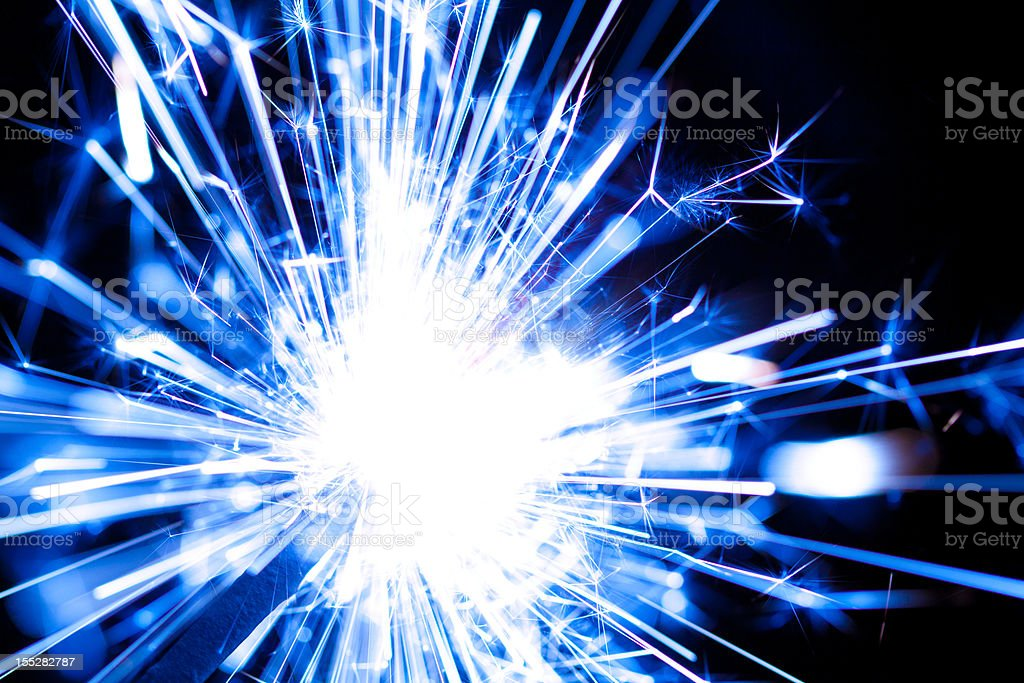Blue Flare royalty-free stock photo