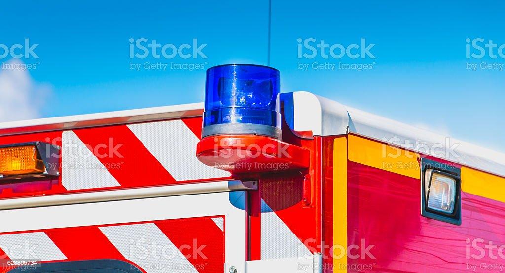 blue flashing light stock photo