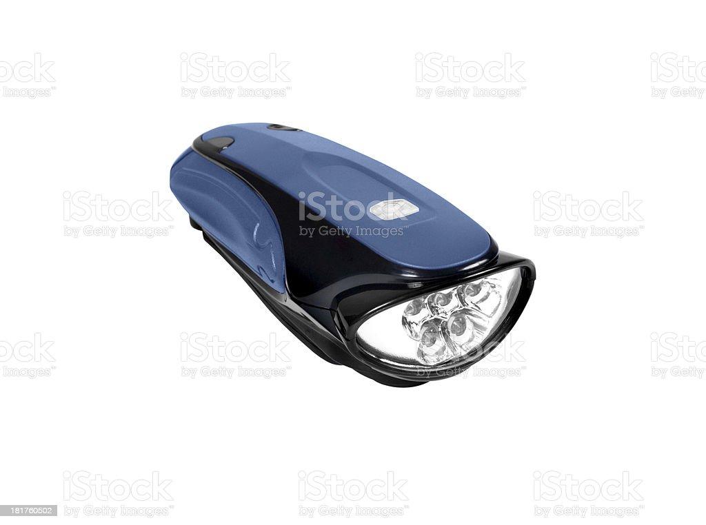 blue Flashlight isolated stock photo