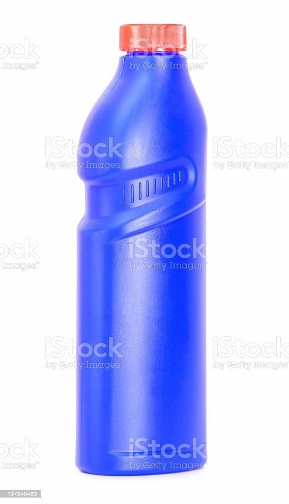 blue flask with washing liquid stock photo
