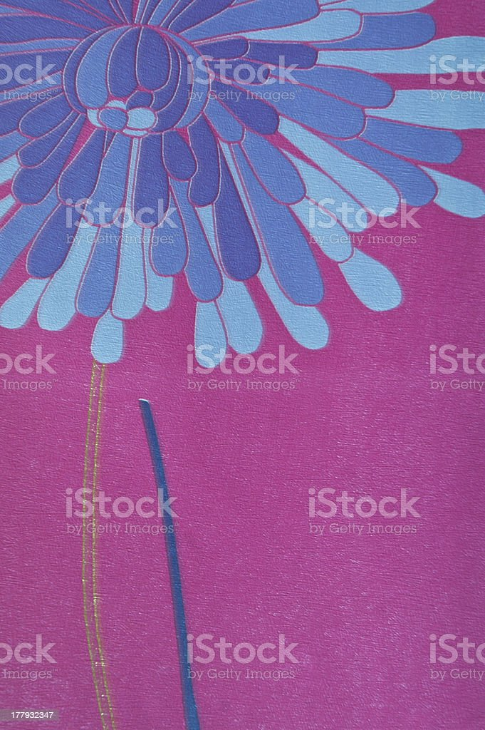 blue flower and purple color vinyl wall cover royalty-free stock photo