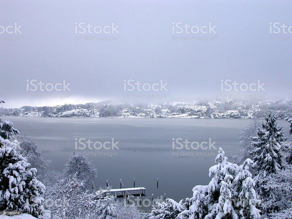 Blue fog royalty-free stock photo
