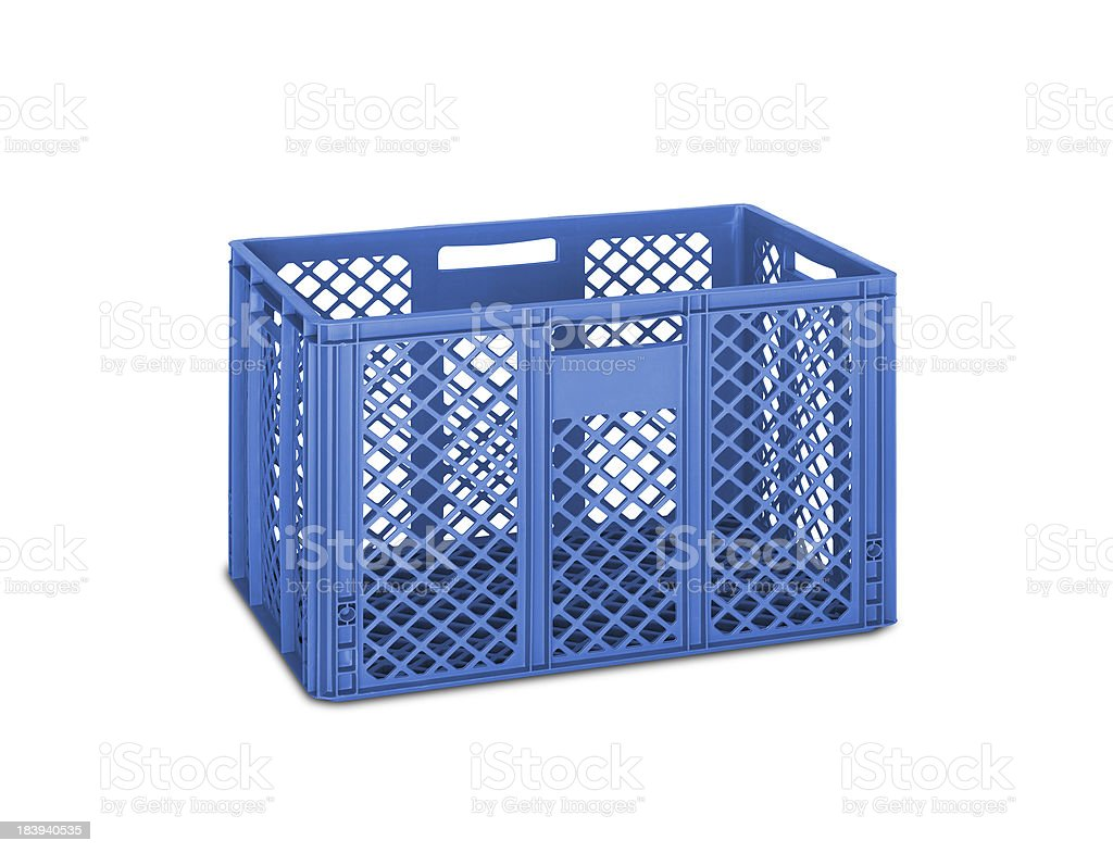 blue folding box isolated on white royalty-free stock photo