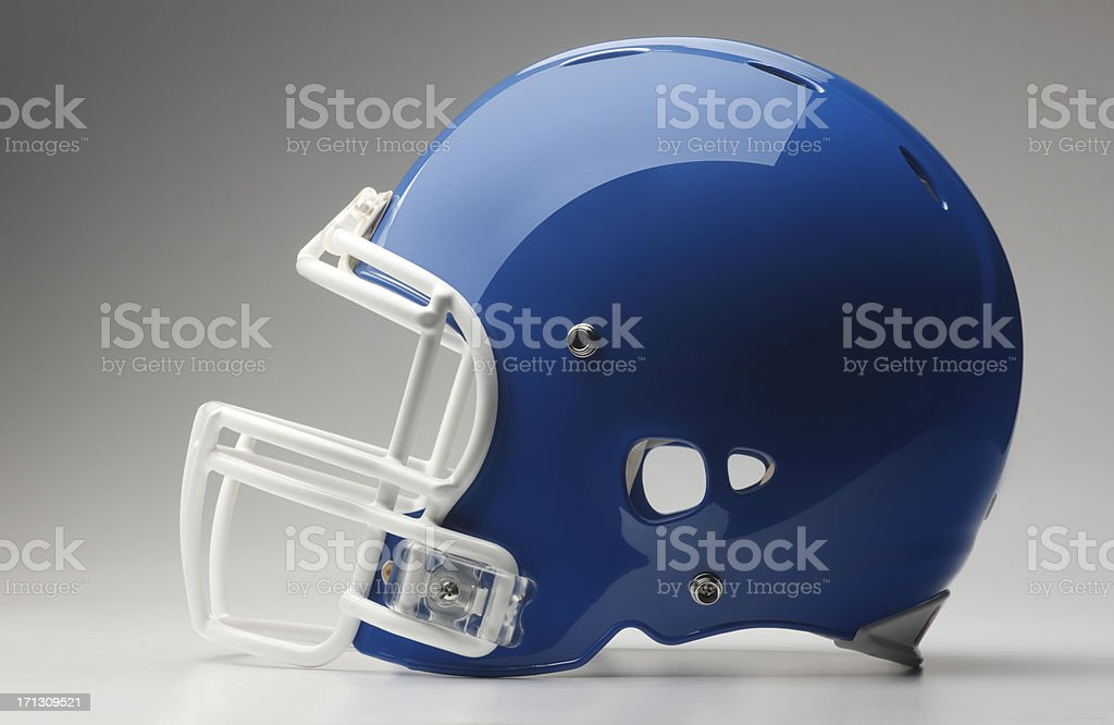 Blue Football Helmet stock photo