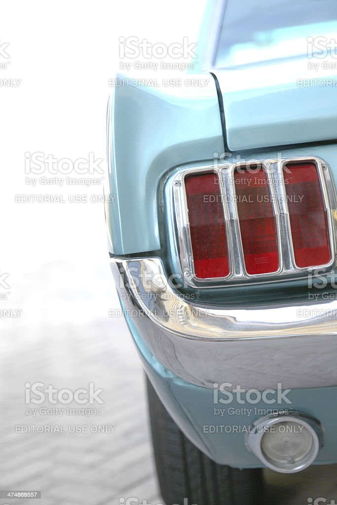 Blue Ford Mustang Tail Light stock photo