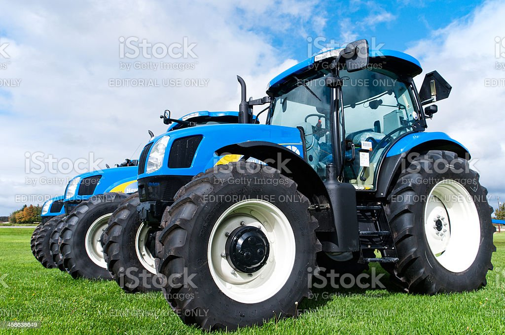Blue Ford New Holland Tractors stock photo