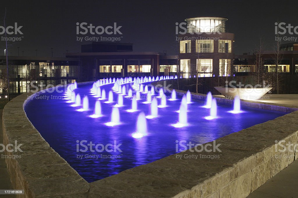 Blue fountain royalty-free stock photo