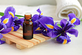 Blue fresh flower essential oil