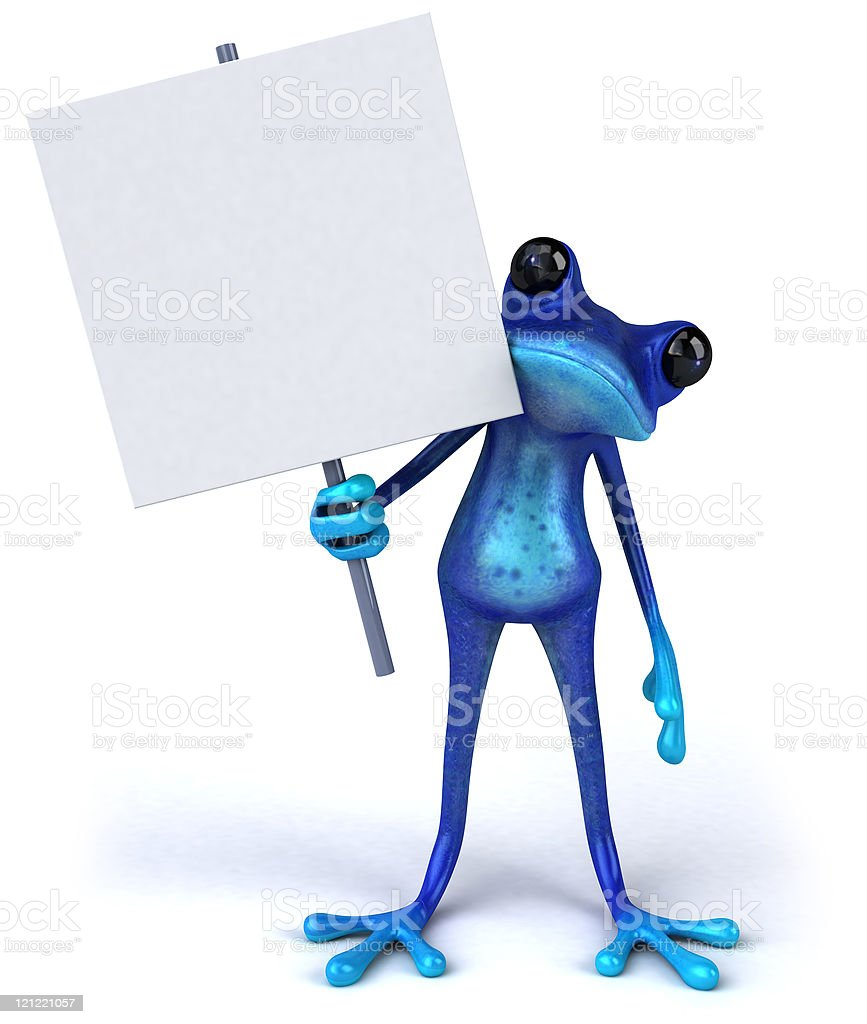 Blue frog royalty-free stock photo
