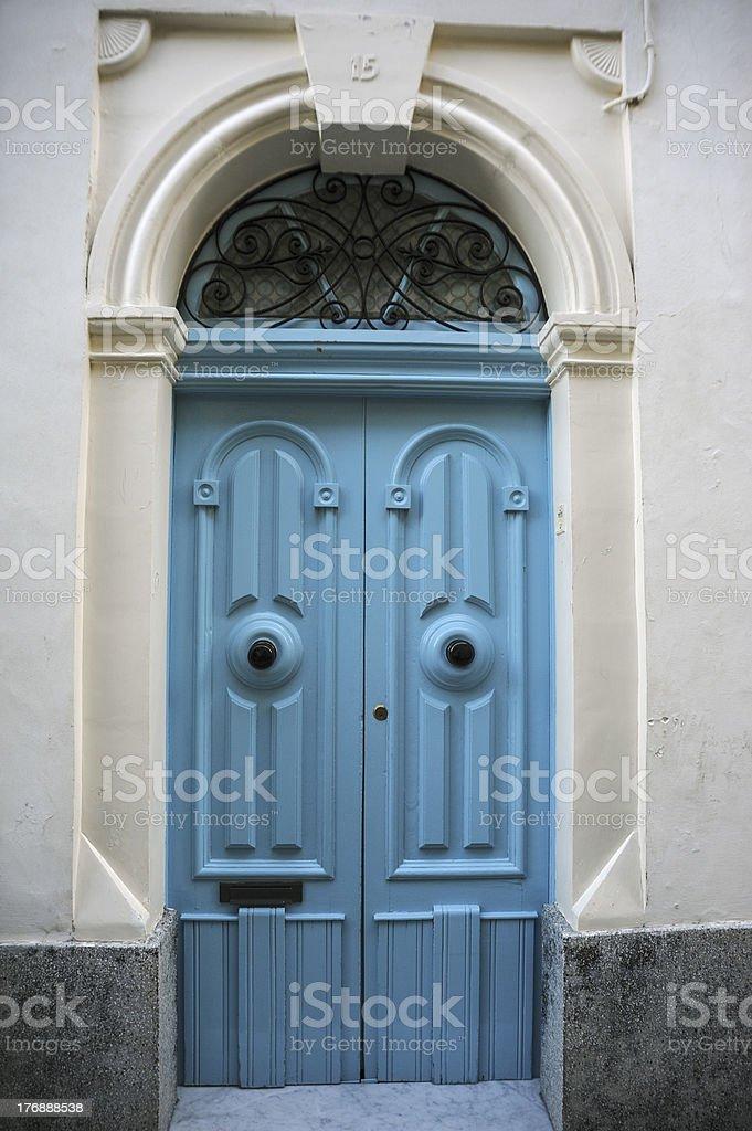 Blue Front Door royalty-free stock photo